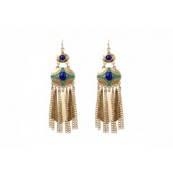 Gold and Stone Statement Earrings